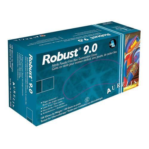 Aurelia® Robust 9.0 Nitrile Powder Free Blue Exam Gloves X-Large