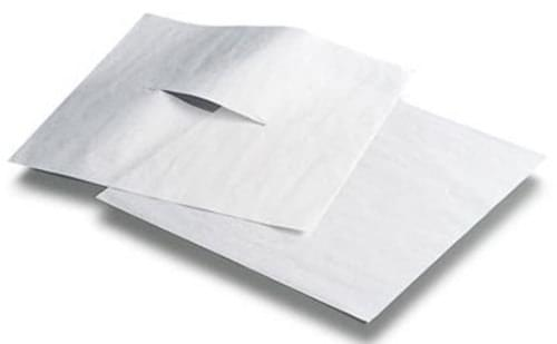 """Chiropractic Headrest Sheets Smooth With Slit 12"""" x 24"""" 1000/case"""