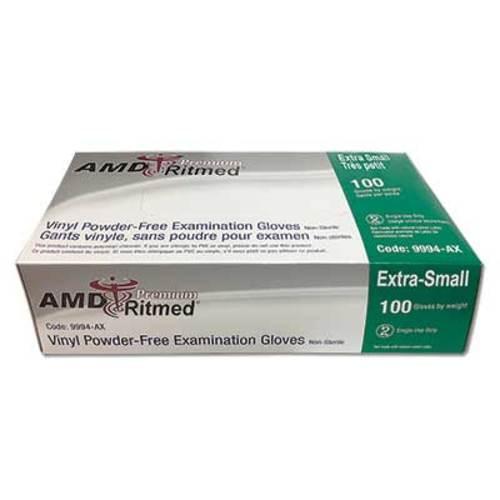 AMD Premium Vinyl Powder Free Glove