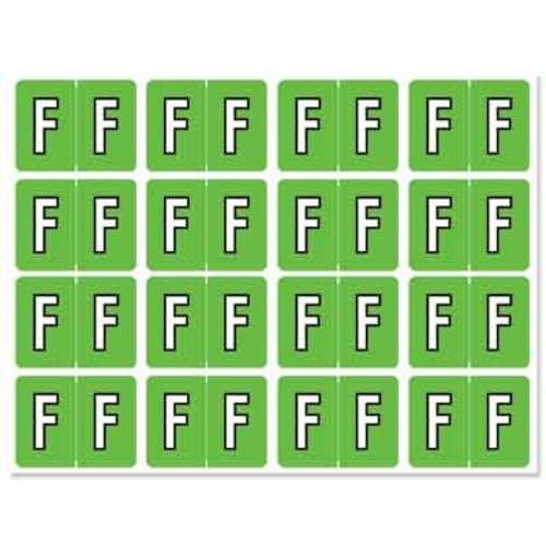 "Letter ""F"" 256/pack"