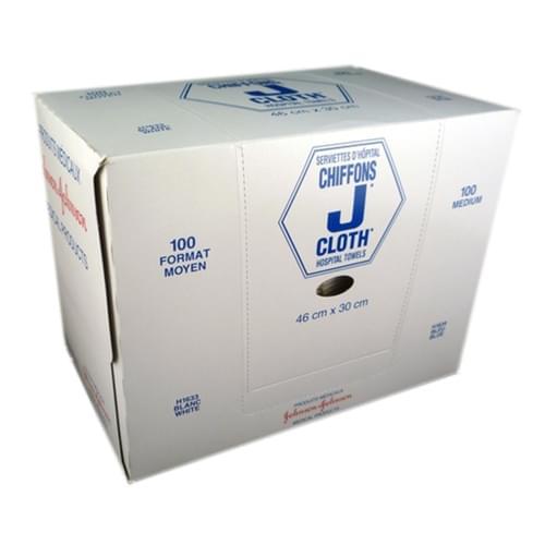 J-Cloth Hospital Towels 30 cm x 46 cm 100/box