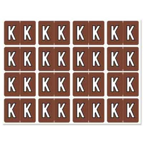 """Letter """"K"""" 256/pack"""