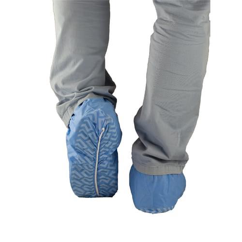 PRIMED PG4-122 Anti-Skid Shoe Covers Universal Blue 100/Box