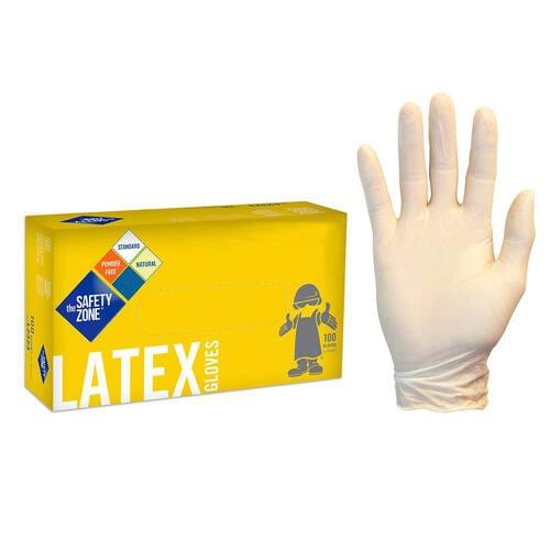 Safety Zone Natural Latex Non-Medical Gloves Large