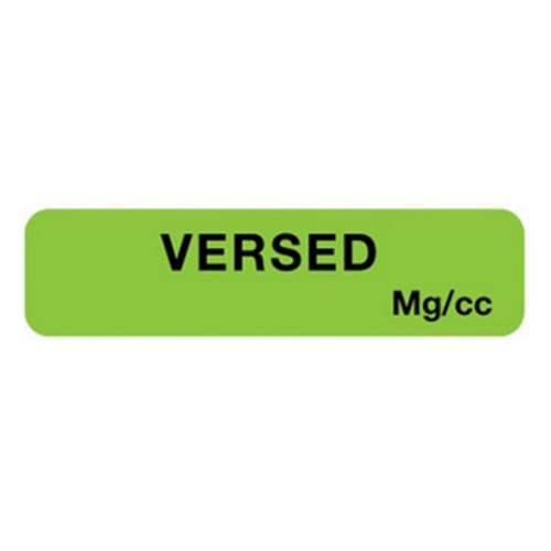 Versed Label Green Mg/cc