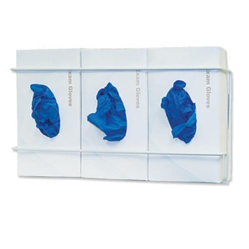 Triple Glove Box Holder Wire - White
