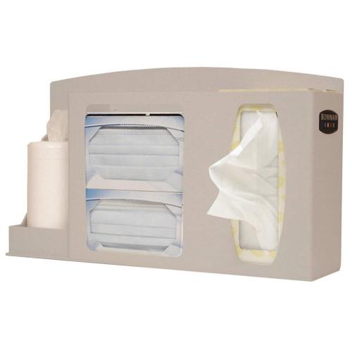 Bowman Respiratory Hygiene/Flu Station Quartz Beige ABS Plastic