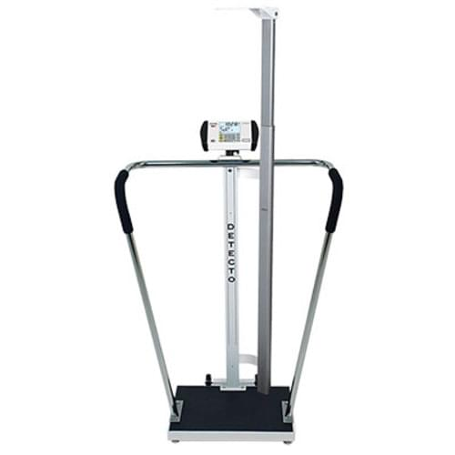 Detecto Digital Bariatric Scale With Height Rod - 600 lb Capacity