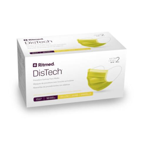 Ritmed® DisTech® Procedural Level 2 Earloop Mask Yellow 50/Box