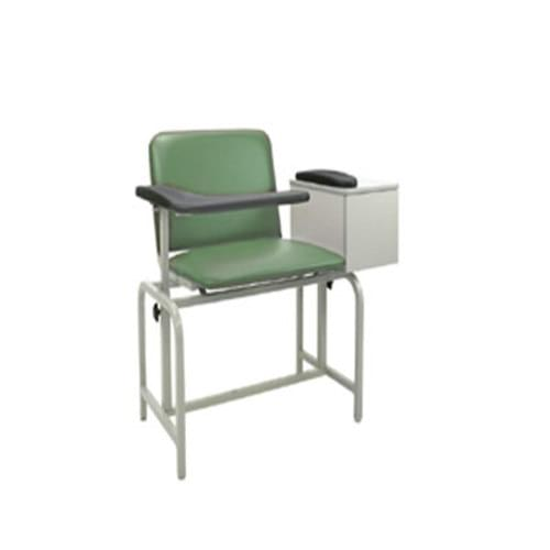 Winco Extra Large Padded Phlebotomy With Cabinet Moss Green
