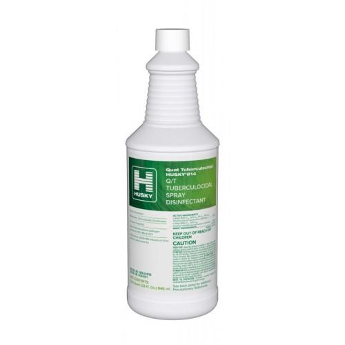Husky 814 Q/T Tuberculocidal Spray Disinfectant Cleaner 12/32oz/CS