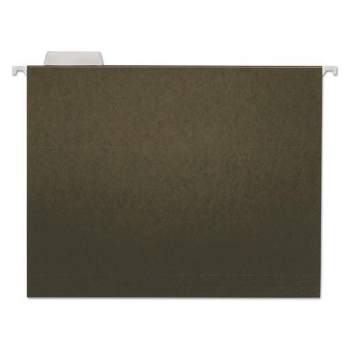 Folder, Hanging, 1/5-Cut Adjustable Tab, Letter, Green, 25/Box