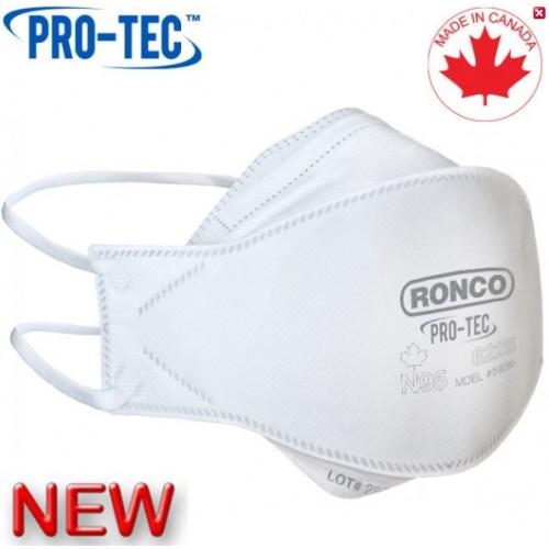 Ronco Particulate Filtering Medical N95 Respirator, Flat Folded, 20/Box