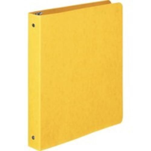 "Wilson Jones; PRESSTEX; Ring Binder, Round Ring, 1"", Yellow - 1"" Binder Capacity - Letter - 8 1/2"" x 11"" Sheet Size - 175 Sheet Capacity - 3 x Round Ring Fastener(s) - Presstex - Yellow - Recycled - 1 Each"