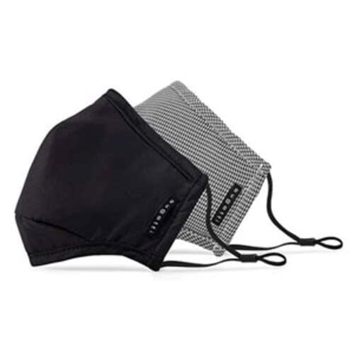 Bugatti Cotton Non-Medical Reusable Face Masks 2 Pack -  Black