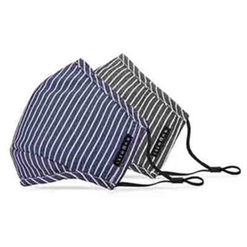 Bugatti Cotton Non-Medical Reusable Face Masks 2 Pack -  Black & Denim