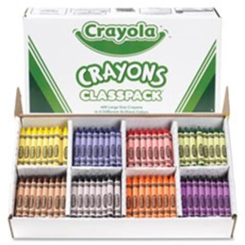 CRAYOLA CLASSPACK CRAYONS, 800 PER PACK, 16 COLOURS