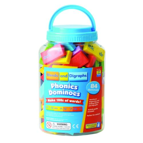 Phonics Dominoes Blends & Digraphs, 84 Pieces and an Activity Guide