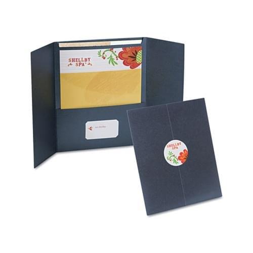 Oxford YourStyle Custom Gate Folio Presentation Folder, Letter Size, Black, 4/Pack