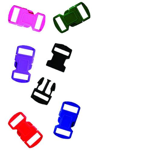 PARACHUTE CORD BUCKLES ASSORTED COLOURS 12 MM, 6 PACK