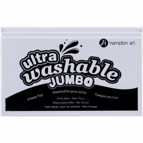 HAMPTON ART JUMBO WASHABLE INK PAD, BLACK