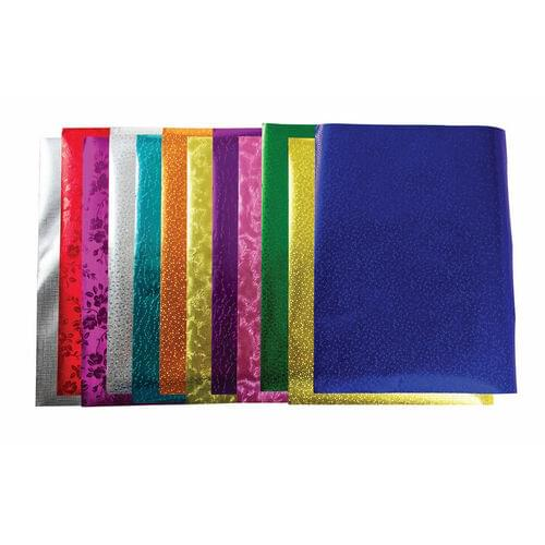"""METALLIC PAPER ASSORTED COLOURS 8.5"""" X 10"""", 24 PACK"""