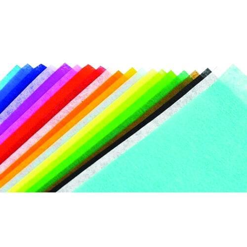 "BLEEDING ART TISSUE PAPER ASSORTED COLOURS 20"" x 30"", 24 SHEETS"