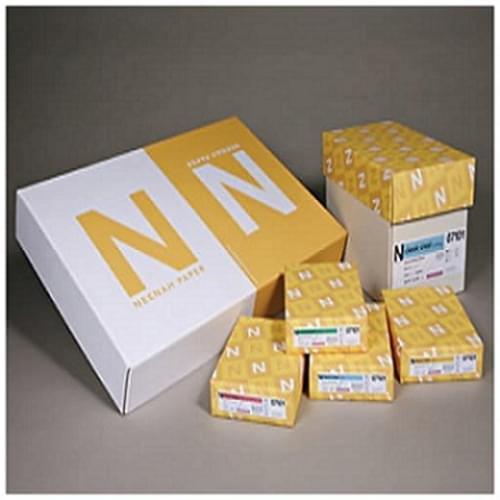 "Neenah Paper Classic 8 1/2"" x 11"" 24 lbs. Laid Writing Paper, Avon Brilliant White, 5000/Case"