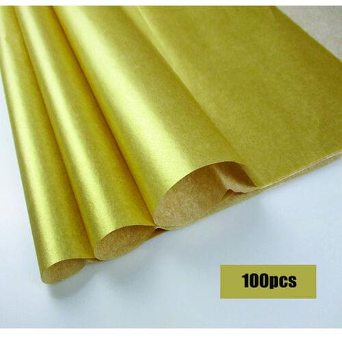 """GOLD TISSUE PAPER 20"""" x 30"""", 24 SHEETS"""