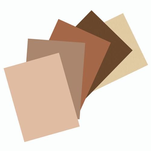 "Construction Paper - 12"" x 18"" - 50 Sheets - Multicultural Colours"