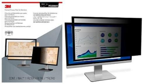 3M Framed Privacy Filter for 22 in Widescreen Monitor, PF220W1F, 16:10 (Open Box)