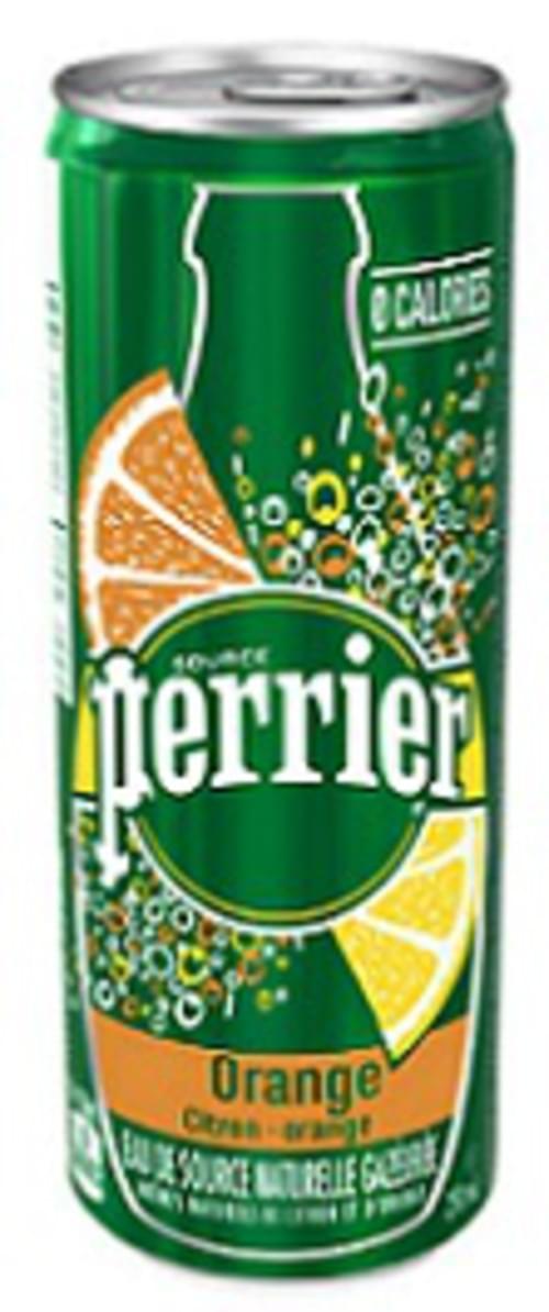 Water, Orange Flavor, Perrier Slim Can, 10x250ml