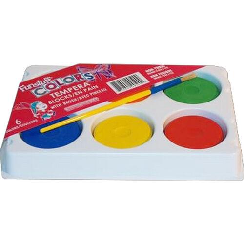 TEMPERA PAINT BLOCK SET WITH PALETTE AND BRUSH