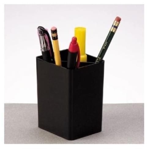 """Regeneration Pencil Cup, 2-1/2""""x2-7/8""""x3-3/4"""", Black"""