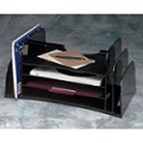"Optimizer Jumbo Desk Sorter Black, 18.5""Wx10 3/8""Dx9""H"