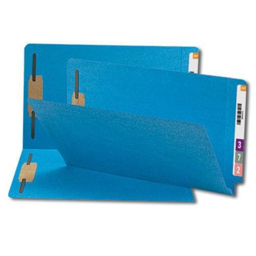 """Color Fastener Folder, 3/4"""" Exp, Legal, 50/BX, Blue"""