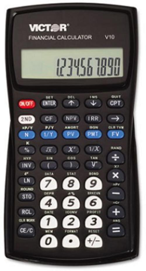 Victor V10 Professional Financial Calculator, 10-Digit LCD