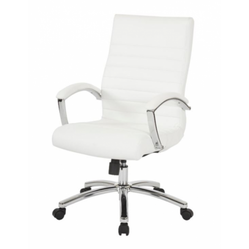 Executive White Faux Leather Chair $299.69