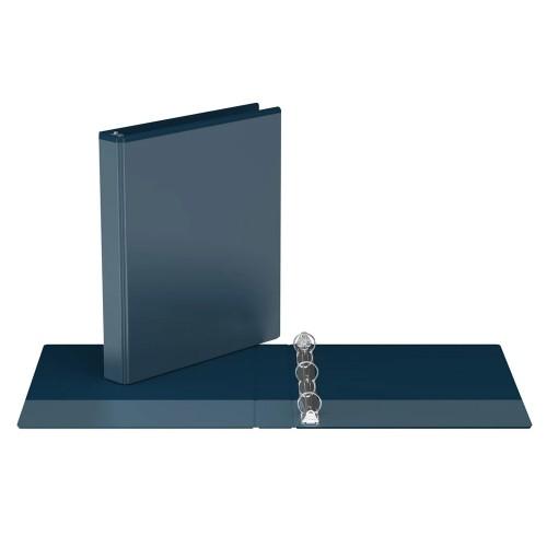 "Davis Group Easyview Premium Customizable Binder, 1"" Round Ring, Navy Blue"