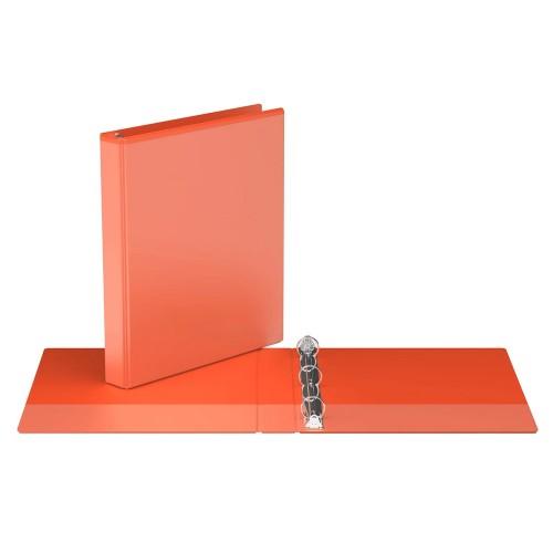 "Davis Group Easyview Premium Customizable Binder, 1"" Round Ring, Orange"