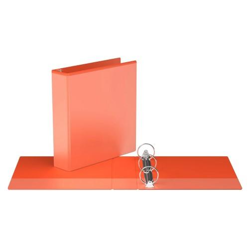 "Davis Group Easyview Premium Customizable Binder, 2"" Round Ring, Orange"