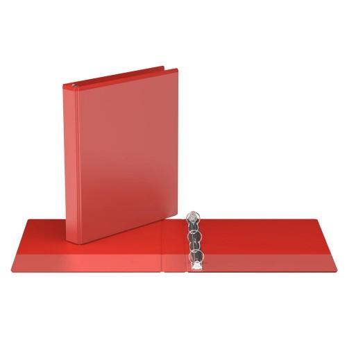 "Davis Group Easyview Premium Customizable Binder, 1"" Round Ring, Red"