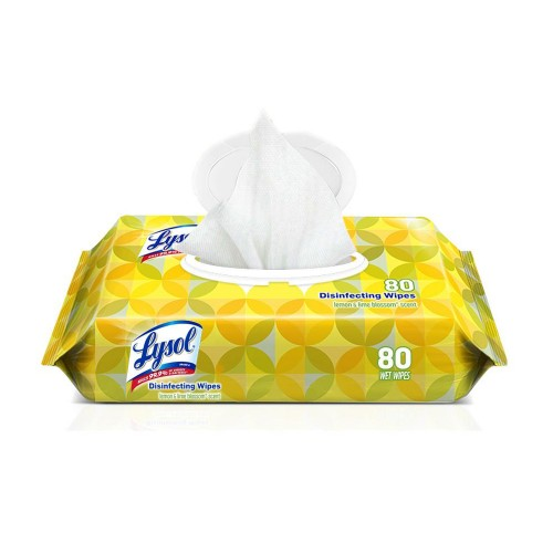 Lysol Disinfectant Wipes Flatpack - Lemon and Lime Blossom Scent - 80 Wipes