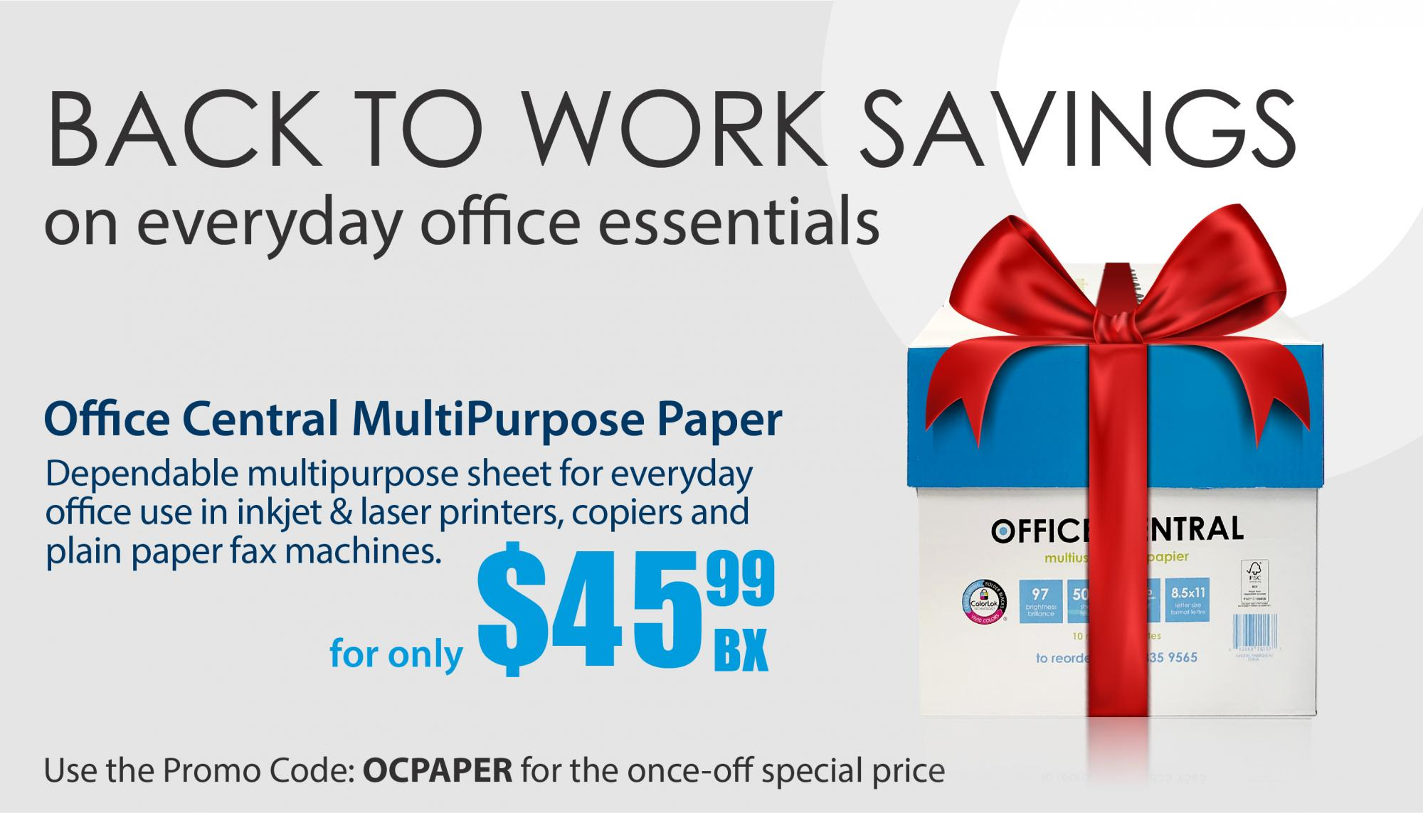 Office Central Copy Paper Special