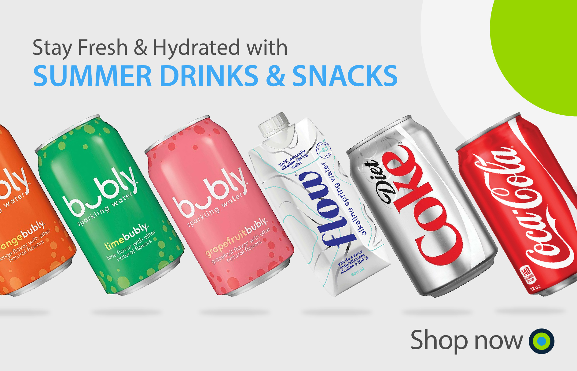Office Central Summer Drinks and Snacks Banner