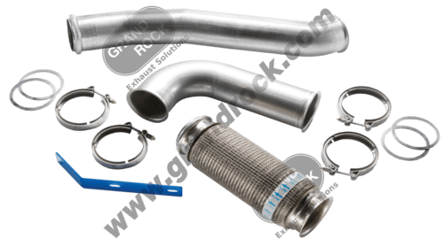 """4"""" 4-BEND TURBO PIPE, W/BELLOW; STAINLESS"""