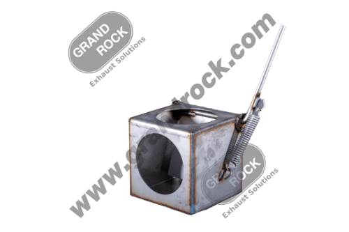 """5"""" 2 POSITION DIVERTER BOX SS 304 STAINLESS"""